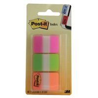 3M Post-it Strong Index Pink, Green and Orange 686-PGOr