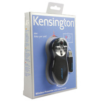 Kensington Black /Chrome Wireless Presenter Red Laser 33374EU