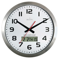 Acctim Meridian RC Wall Clock Alum 74447
