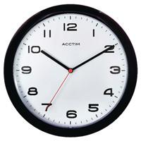 Acctim Aylesbury Wall Clock Black 92/302