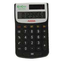 Aurora Black /White 8-Digit Handheld Calculator EC101