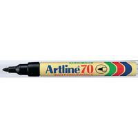 Artline 70 Permanent Black Bullet Tip Marker (Pack of 12) A701