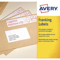 Avery 157x39mm White Franking Label FL07
