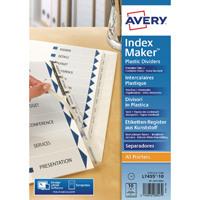 Avery Index Maker Clear Polypropylene 10-Part 05113081