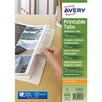 Avery Divider Printable Tabs White 05412061