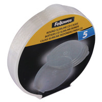 Fellowes Round Slimline CD Case (Pack of 5) Clear 9834201