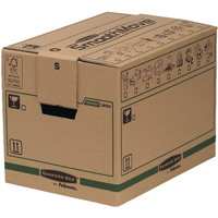 Fellowes Bankers Box Moving Box Small Brown/Green 6205201 (Pack of 5)