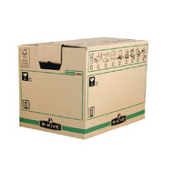 Fellowes Bankers Box Moving Box Large Brown/Green 6205301 (Pack of 5)