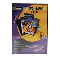 Fellowes Replacement DVD Cases (Pack of 5) 8335702