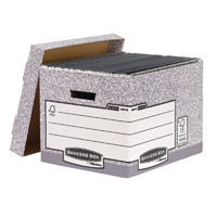 Bankers Box Grey Fastfold Standard Storage Box Pack of 10 00810-FF