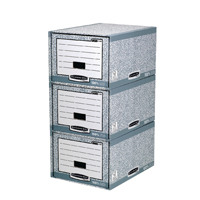 Fellowes Bankers Box System Storage Drawer Grey and White 01820