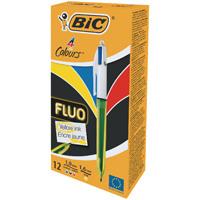 Bic 4 Colours Fluo Ballpoint Pen 933948