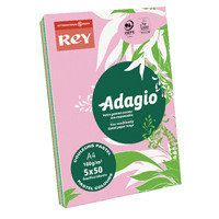 Adagio Pastel Assorted A4 Coloured Card 160gsm (Pack of 250) AMP2116