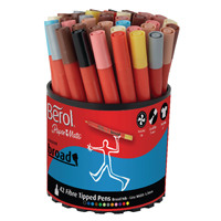 Berol Colourbroad Pen Assorted Water Based Ink Tub of 42 CBT S0375970