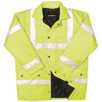 Proforce Yellow High Visibility Site Jacket Class 3 EN471 Medium HJ03YLM