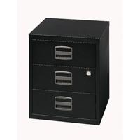 Bisley A4 Mobile Home Filer 3 Drawer Black BY33938