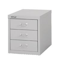 Bisley 3 Drawer Grey Non-Locking Multi-Drawer Cabinet BY60834