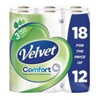 Triple Velvet Toilet Roll 3-Ply (Pack 18 White KSCATV18
