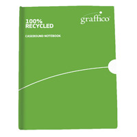 Graffico Recycled Casebound A6 Notebook Feint Ruled 160 Pages 9100034