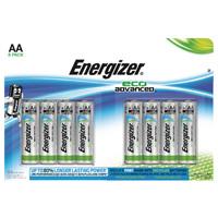 Energizer EcoAdvanced Alkaline AA Batteries E91 (Pack of 8) E300116500