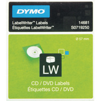 Dymo CD/DVD Label White 14681 S0719250 (Pack of 160)