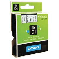 Dymo Black on White 4500 D1 Standard Tape 12mmx7m S0720530