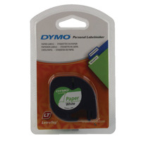 Dymo Pearl White LetraTag Paper Tape 12mmx4m S0721510