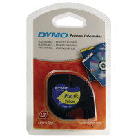 Dymo Hyper Yellow LetraTag Plastic Tape 12mmx4m S0721620