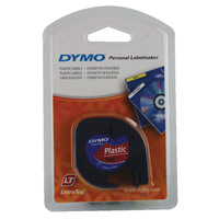Dymo Cosmic Red LetraTag Plastic Tape 12mmx4m S0721630