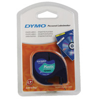 Dymo Dark Green LetraTag Plastic Tape 12mmx4m S0721640