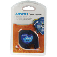 Dymo Ultra Blue LetraTag Plastic Tape 12mmx4m S0721650