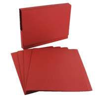 Guildhall Red Square Cut Folder (Pack of 100) FS315-REDZ