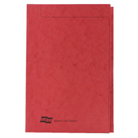 Europa Foolscap Red Square Cut Folder Pack of 50 4828