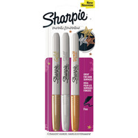 Sharpie Metallic Permanent Marker Pen Fine Gold, Silver and Bronze (Pack of 3) 1849114