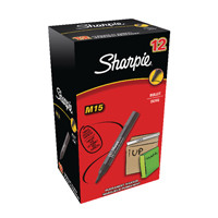Sharpie Black M15 Permanent Bullet Tip Marker (Pack of 12) S0192582