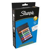 Sharpie Bullet Tip Whiteboard Markers Assorted with Eraser Pack of 6 S0743981