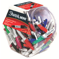 Sharpie Mini Permanent Fine Assorted Marker Canister of 72 S0811300 (Pack of 72)