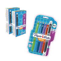 Papermate Inkjoy Gel Retractable Black (Pack of 12 with Free Pack of 6 Assorted) GL839623