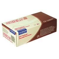 Shield Powdered Clear Medium Vinyl Gloves (Pack of 100) GD47