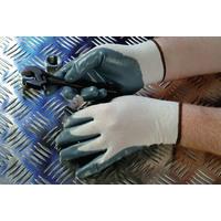 Shield Grey nitrile coated nylon Gloves gi/nn9