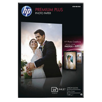 HP White 10x15cm Premium Plus Glossy Photo Paper (Pack of 25) CR677A