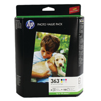 HP Photo black yellow cyan light cyan magenta light magenta Inkjet Cartridge and Paper Q7966EE