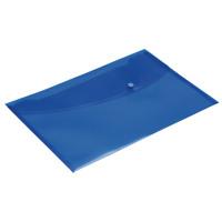 Rapesco Blue Popper Wallet Foolscap (Pack of 5) 0693