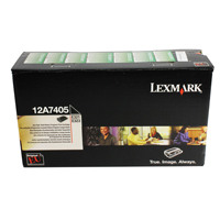 Lexmark Black Return Program Toner Cartridge High Yield 12A7405