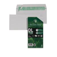 Basildon Bond DL 120gsm Peel and Seal Recycled Plain Envelope White Pack of 25 16-BUK-001