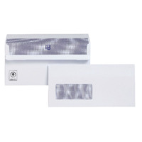 Plus Fabric DL Window Envelopes 110gsm Self Seal White (Pack of 500) C22570