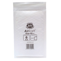 Jiffy AirKraft Mailer Size 00 115x195mm White (Pack of 10) mmUL04600