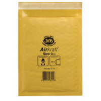 Jiffy AirKraft Mailer Size 0 140x195mm Gold (Pack of 10) mmUL04602