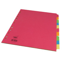 Concord Bright A4 10-Part Subject Dividers (1 Set of 10) 50899