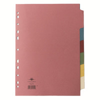 Concord Subject Divider 6-Part A4 70699/J6